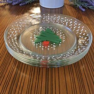 1988 Dayton Hudson Christmas Tree & Snow Plates